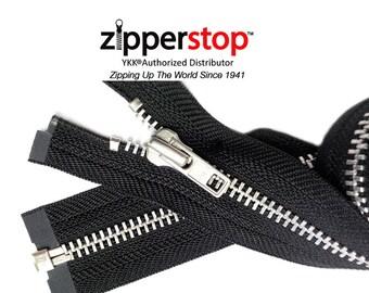 "3"" to 36 ""Jacket Zipper YKK # 7 Heavy Duty -  Aluminum Separating, Zippers wholesale (Options Length)ZipperStop Wholesale  Distributor YKK®"