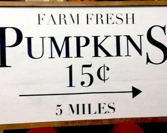 Handmade Pumpkin Stand Sign