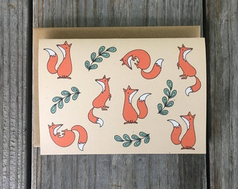 Fox Card Set, Fox Art, Red Fox Gift