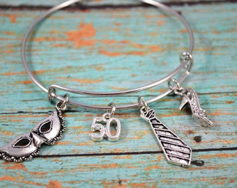 BANGLE BRACELET ~ Erotic Bangle Bracelet ~ Themed Bangle Charm Bracelet