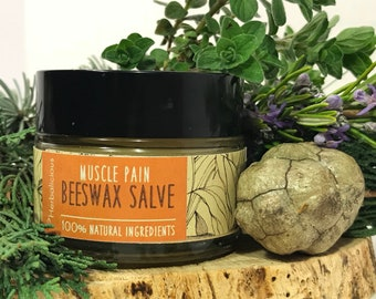 Muscle pain salve, muscle pain relief, sore muscle salve, herbal balm, St Johns wort balm, healing salve, organic muscle rub, MyHerbalicious