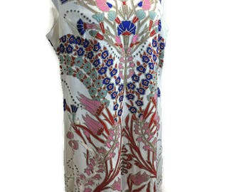 Mr. Dino 60's Abstract Print Sheath Dress