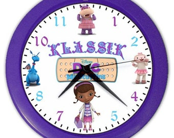 Disney Doc McStuffins Personalized Wall Clock - Great Birthday Gift Girl