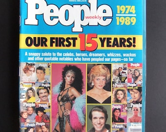 March 1989 People Magazine 1974-1989 Special Anniversary Issue 15th Anniversary Magazine Collectible