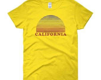 California Retro Vintage T Shirt 70s Throwback Surf Tee