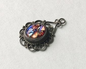 pretty little foil opal dangle