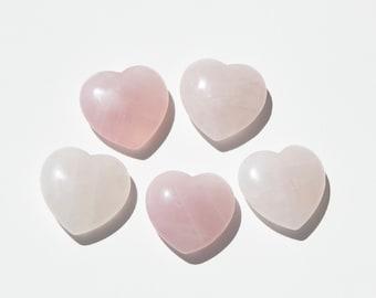 Rose quartz heart etsy rose quartz healing pendant rose quartz heart pendant rose quartz heart stone rose quartz palm stone rose quartz healing crystal quartz aloadofball Choice Image