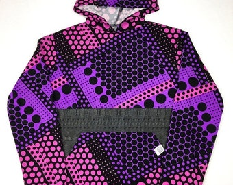 50% OFF SALE One of a Kind - PURP and Black Pullover ( Medium )
