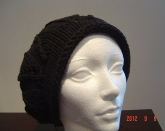 Hand Knit Hat Slouchy Oversized Beret