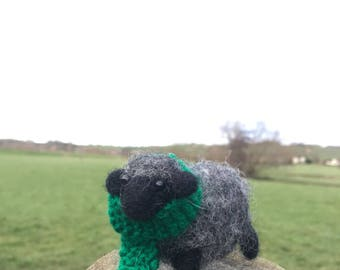 Needle felted Black Welsh Mountain sheep