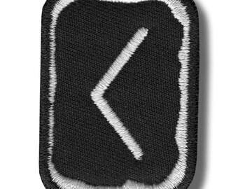 Kaunan rune - embroidered patch, 4x5 cm