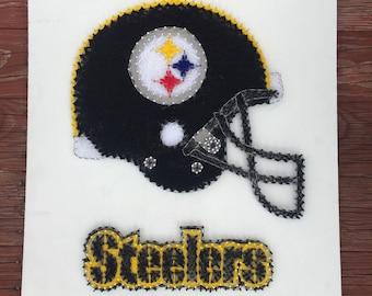 Steelers Helmet String Art  |  MADE TO ORDER