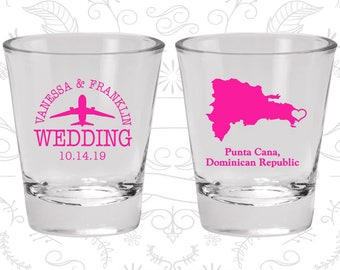 Dominican Republic Shot Glass, Dominican Republic Shot Glasses, Dominican Republic Glasses, Dominican Republic Glassware (172)