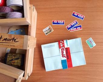Vintage Registered Envelopes. Airmail. Cloth Lined Envelopes. Ephemera. Bundle of 25.