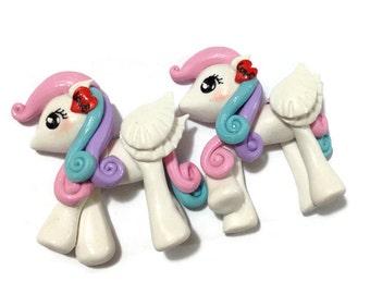Unicorn Cabochon - Little Pony Clay work 1 pcs -UC060