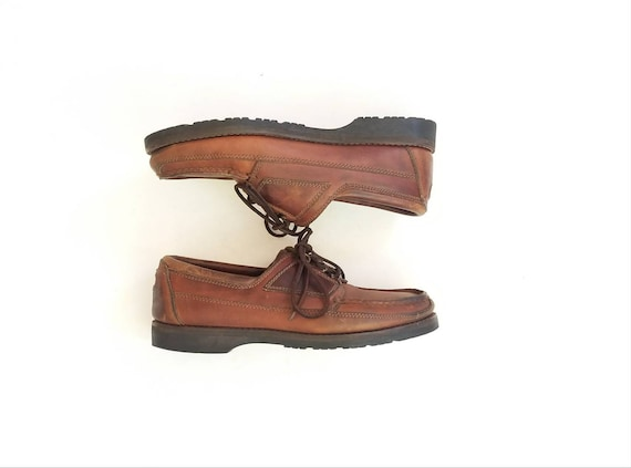 Classic Boat Desert Sneakers Shoes Shoes Leather Chukka Rockport by Topsider RocSports Boots Tie 9 Brown Distressed Mens Vintage Deck qwBTXO