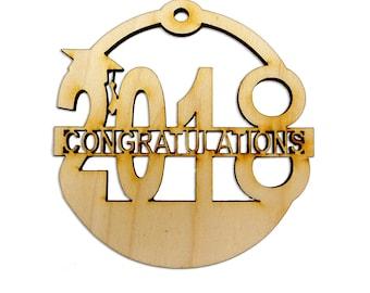 Personalized 2018 Graduation Christmas Ornaments - High School Graduation Ornaments - Personalized College Graduation Ornaments