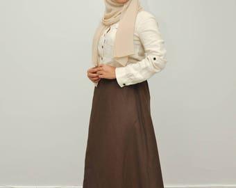 A-cut Linen Skirt