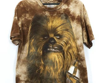 Vintage Rare Star Wars Ewok Brown Large Short Sleeve Tee T-Shirt Made In Honduras 100% Cotton