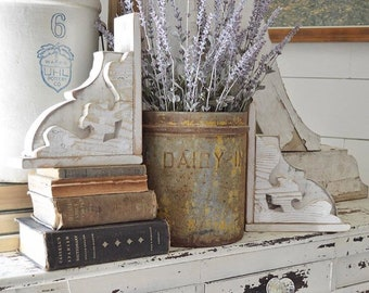 Reclaimed Wood Corbels Set Of 2 // Rustic // Brackets // Wooden Book Ends // Modern Farmhouse // Handmade // Handcrafted