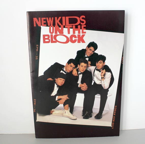 Vintage 1989 NKOTB Poster Book, New Kids On The Block Large Posters Book of 8