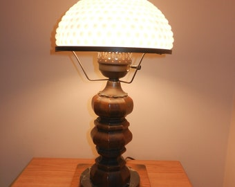 Lamp,Lamps,Vintage Lamp,HobNail Shade,Foyer Lamp,Office Lamp,Antique