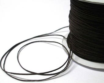 0.4 mm the meter braided Brown nylon thread