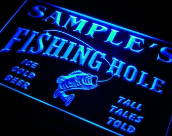 Personalized Sign Custom Name Neon LED Decor For Home Bar Man Cave Business Fishing Hole