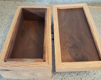 Custom oak and walnut jewelry box