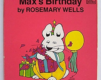 Max's Birthday by Rosemary Wells - children's board book - Very First Books