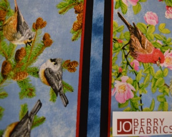 Songbirds from the Songs of Nature Collection by Robert May w/Suzanne Cruise for Quilting Treasures Quilt or Craft Fabric.
