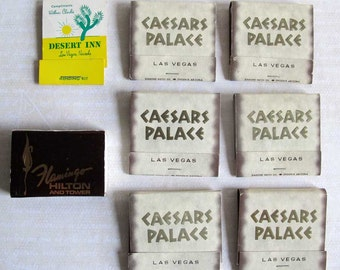 Las Vegas Nevada Vintage Collectibles Caesars Palace Flamingo Desert Inn Matchbooks Sewing Kit