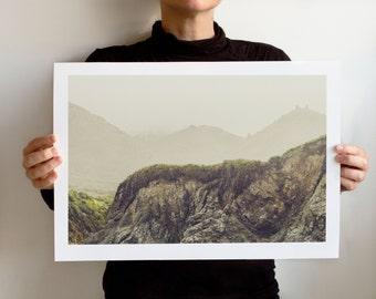 Foggy California Coast, Art Print, Poster, Gallery Giclée