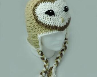 Crochet Barn Owl Hat