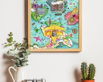 Print The trip islands A4