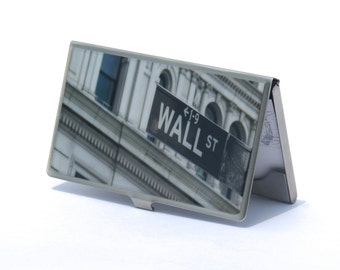 Wall Street Gift,  Corporate Gift, Co Worker Gift, Business Card Case, Graduation Gift, Card Holder, Groomsmen Gift,  Credit Card Holder