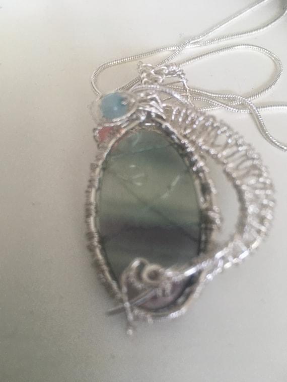 Fluorite Amulet Aura Cleansing