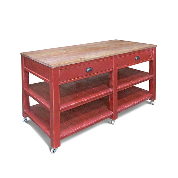 Kitchen Island Work Table Reclaimed Wood Kitchen Work