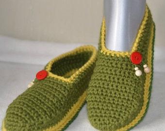 Adult crochet slippers
