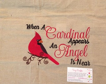 When A Cardinal Appears An Angel Is Near Pillow Cover Case