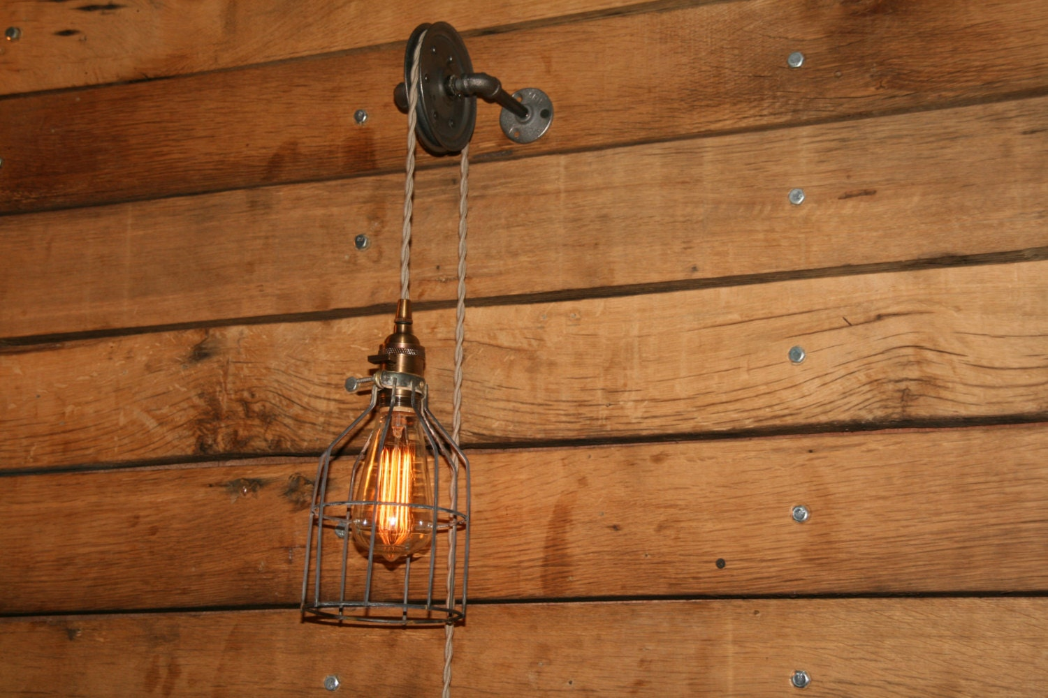 Pulley wall mount light industrial wall sconce pendant zoom mozeypictures Gallery