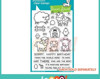 Lawn Fawn Clear Stamp Set - Hay There