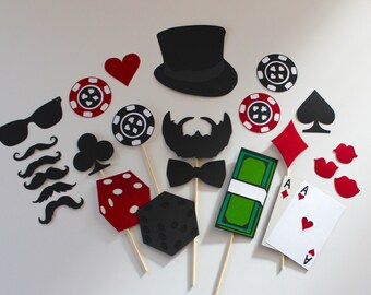 Casino / Special Agent Themed Photo Booth Props