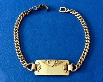 Vintage Kestenmade Military Bracelet 14K Gold Filled Kestenmade Bracelet