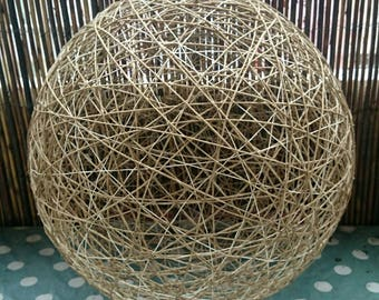 Lampshade ball hemp cotton by La Fabrique de Ninoue