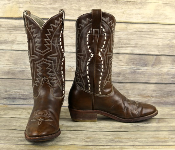 Boots Wide Brown Mens Size Quijote Leather 8 Width Western 5 Cowboy Don Vintage E TqUExvwv1