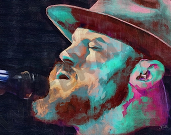 Zac Brown Band Art Print - Oil Painting Poster  LFF0224