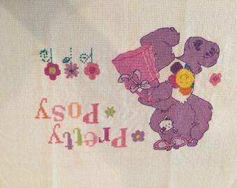 Care Bears Cross Stitch, Harmony Bear, Pretty Posy