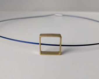 Minimal geometric style necklace square