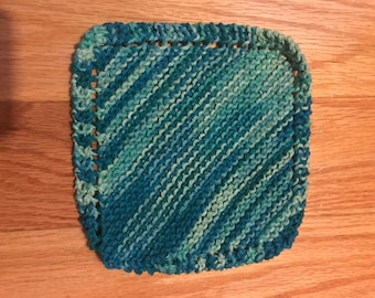 Blue kitchen dishcloth